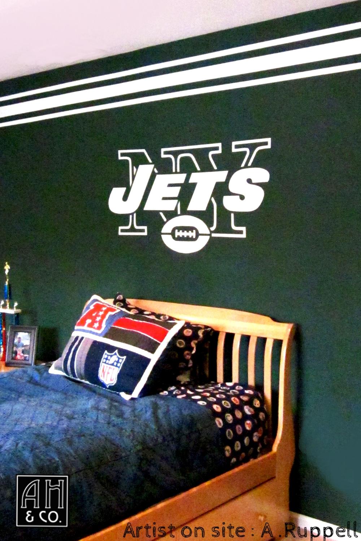 boy s rooms ah co decorative artisans ny jets teen room mural