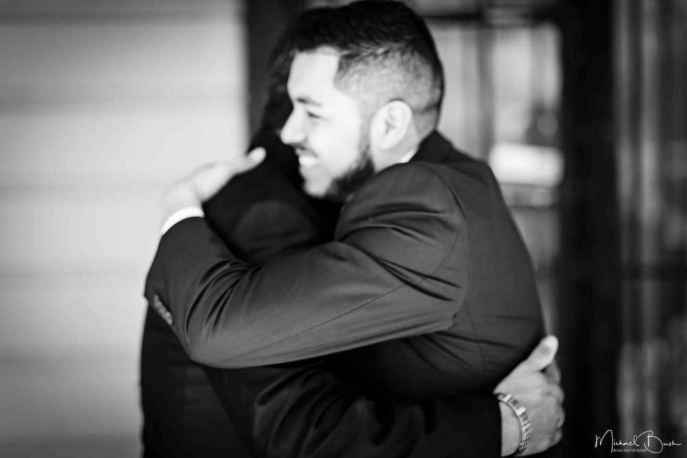 Wedding-Details-Groom-Fort Worth-b&w-Getting Ready-bestman-love-hugs.jpg