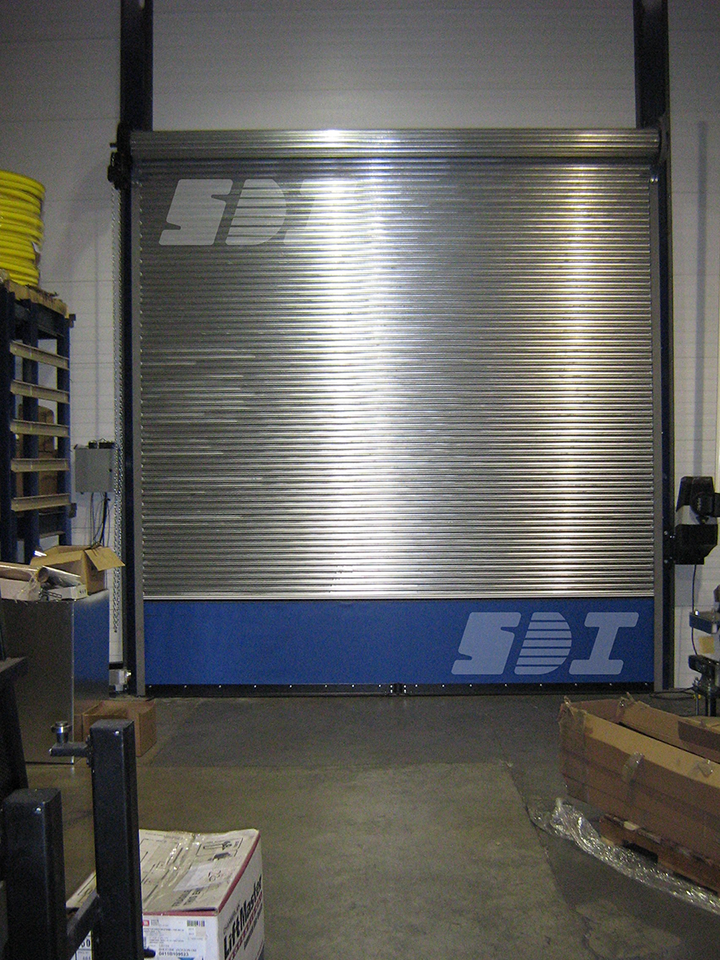 Rolling Door with Break-Away Panel