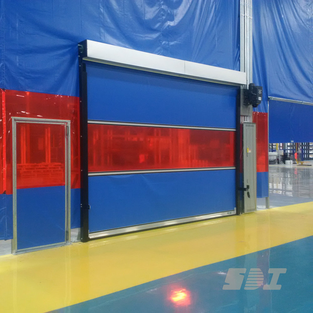 E100 Fabric Door With Welding Screen