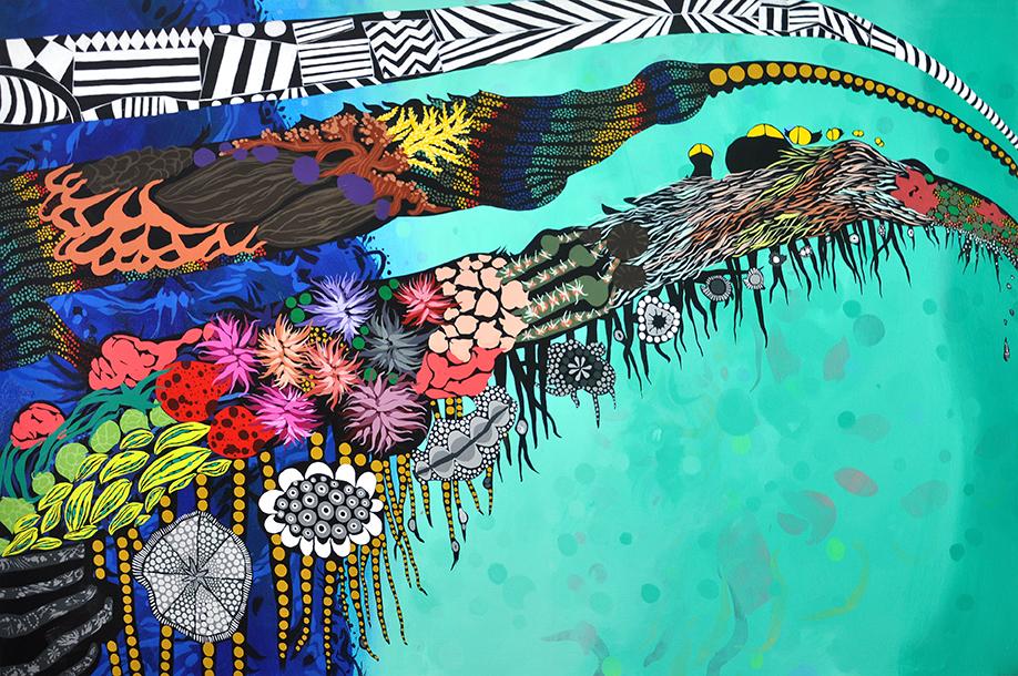 "Sanctuary  40""x60"", acrylic on canvas"