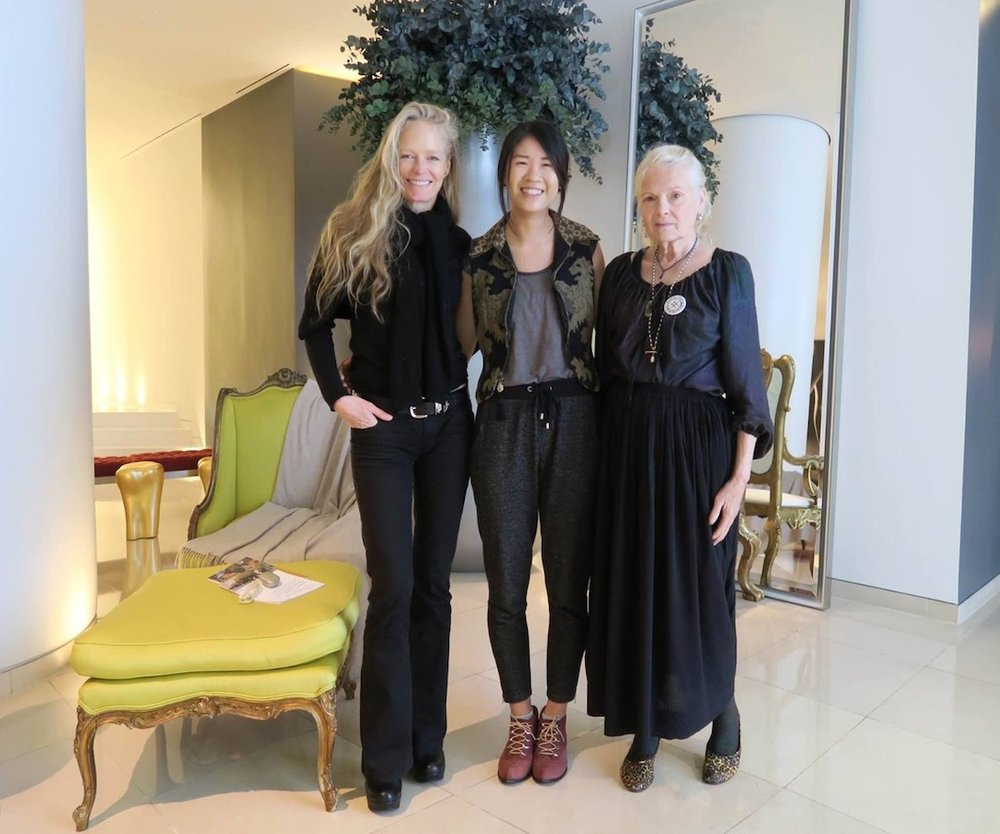 With founder Suzy Amis Cameron and Vivienne Westwood.
