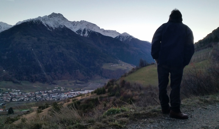 Hiking on the other side of the Vinschgau valley, by a town called Allitz.