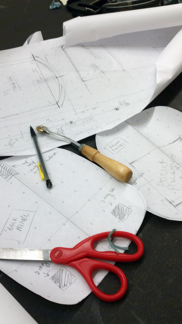 Drafting the paper pattern