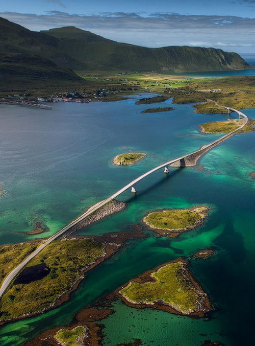 The Fredvang Bridges, Lofoten Island Archipelago, Norway..jpg
