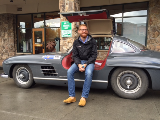 Paul on the Colorado Grand in the 300 SL Gullwing