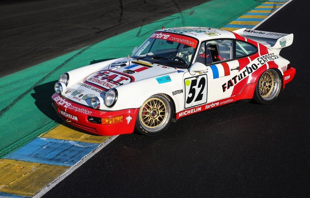 The 1994 24 Hours of Le Mans GT class winning Porsche Carrera 3.8 RSR