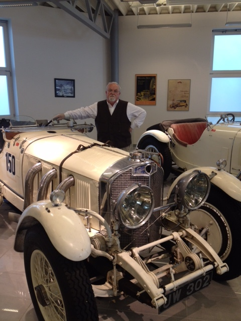 Peter with Caracciola's Mercedes-Benz SS Rennsport