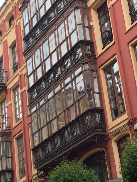 Unique windows in every building in Santander