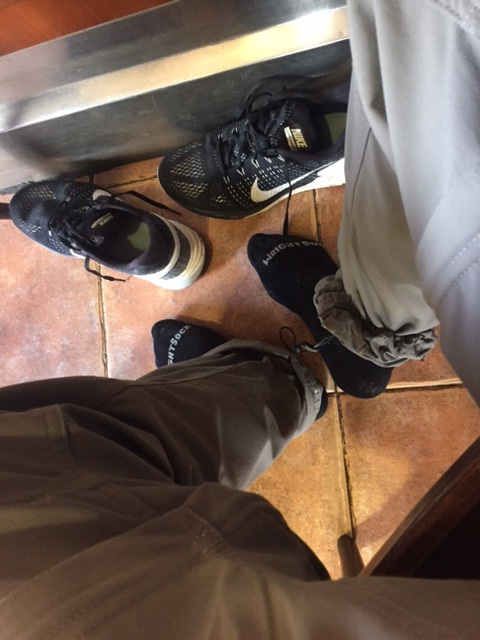 Feet at lunch