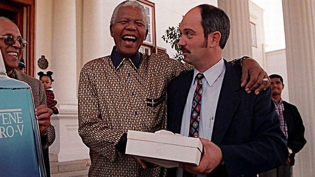 Nelson Mandela and his jailer Christo Brand