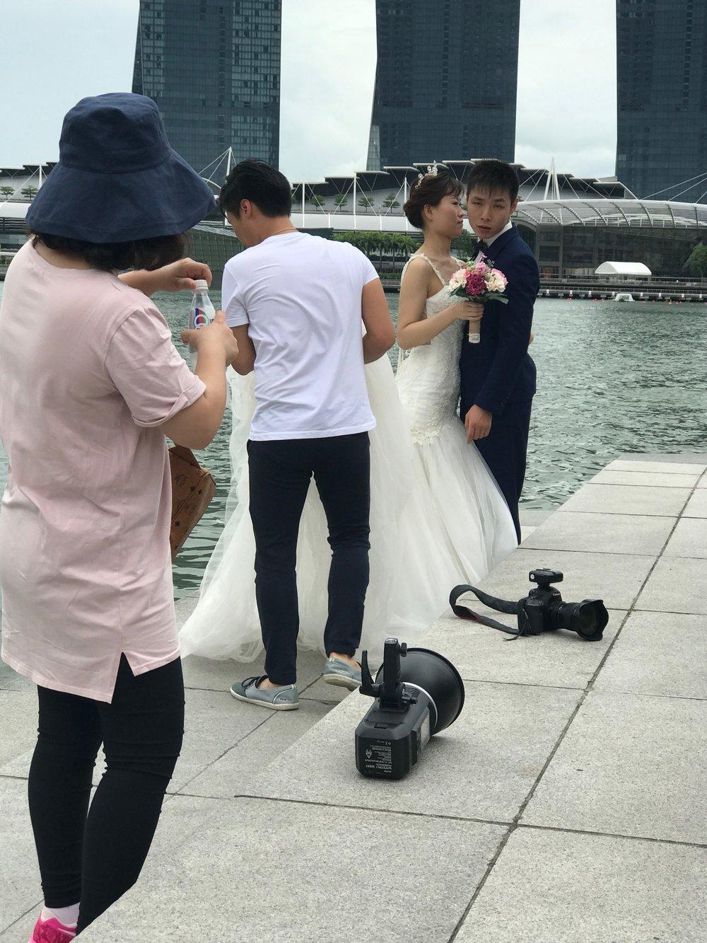 Wedding photos are always fun to watch.