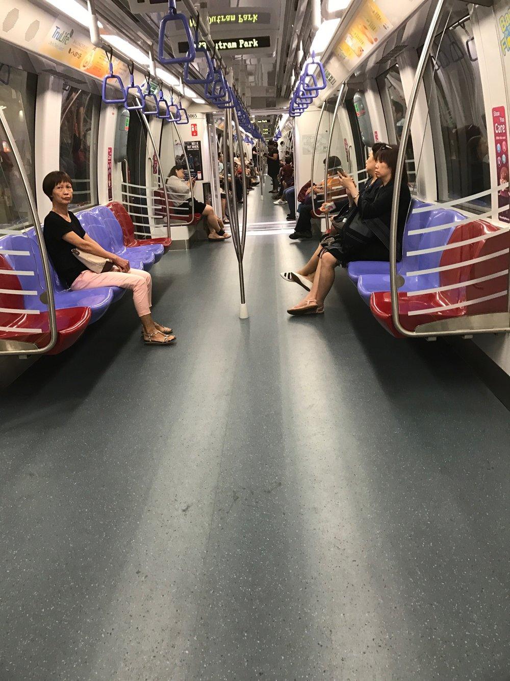 Nice subway car, huh?