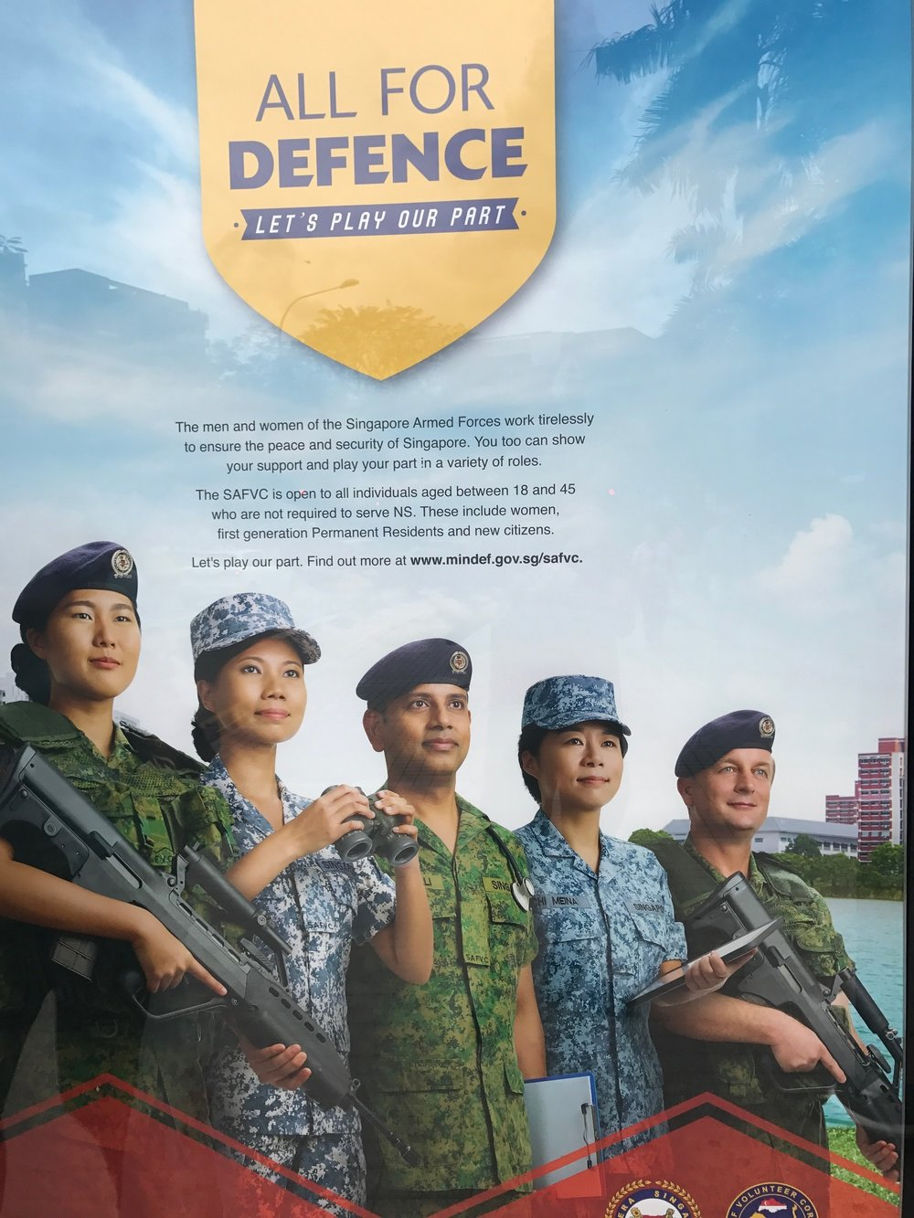 And the babies turn into this. Actually military service is mandatory for all.
