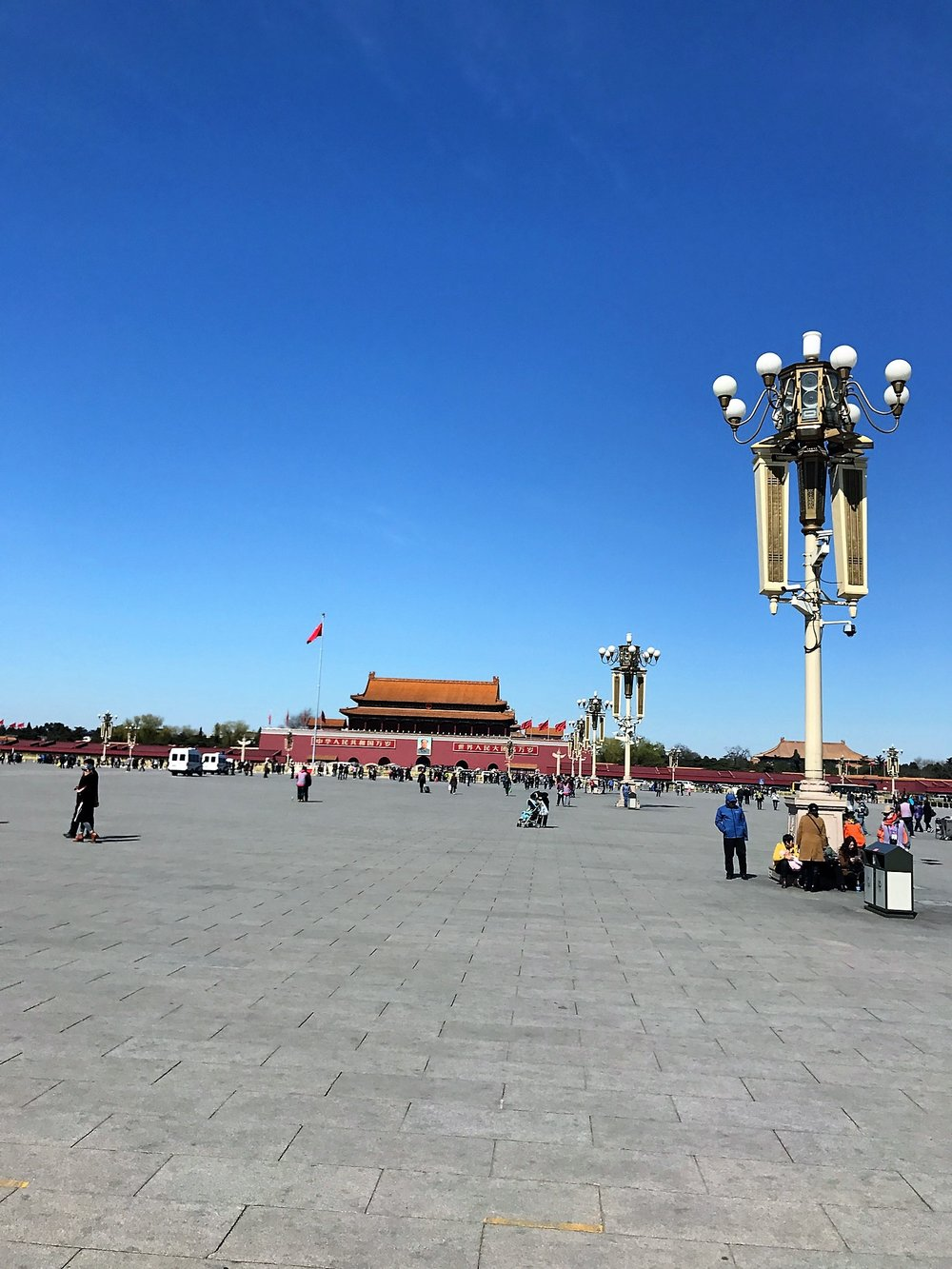 Tianamen Square from the Mausoleum. The world's largest plaza.