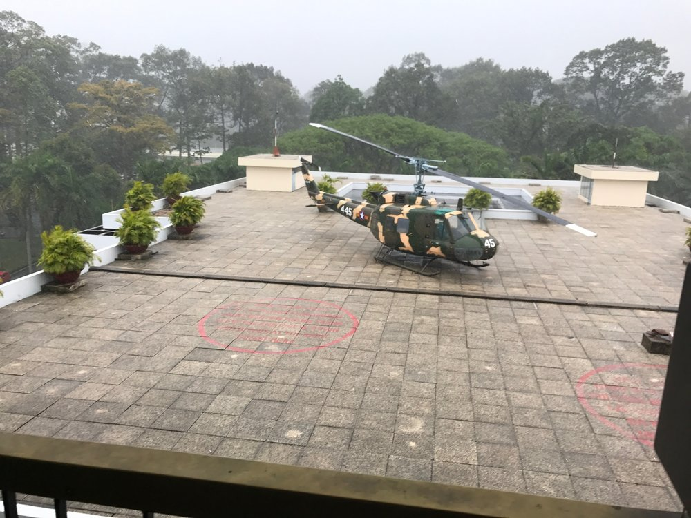 Presidential helicopter on roof