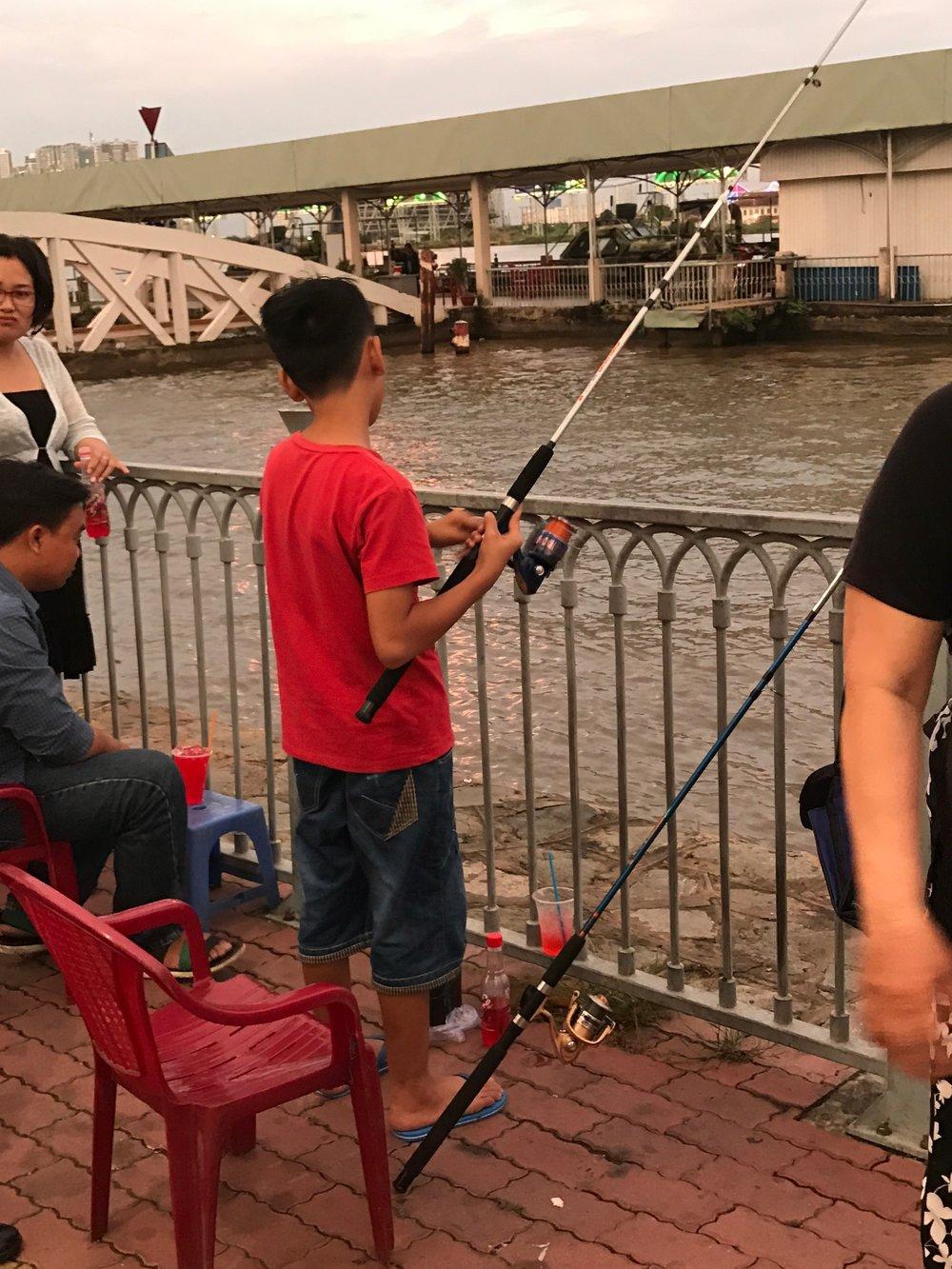 Saigon River fishing
