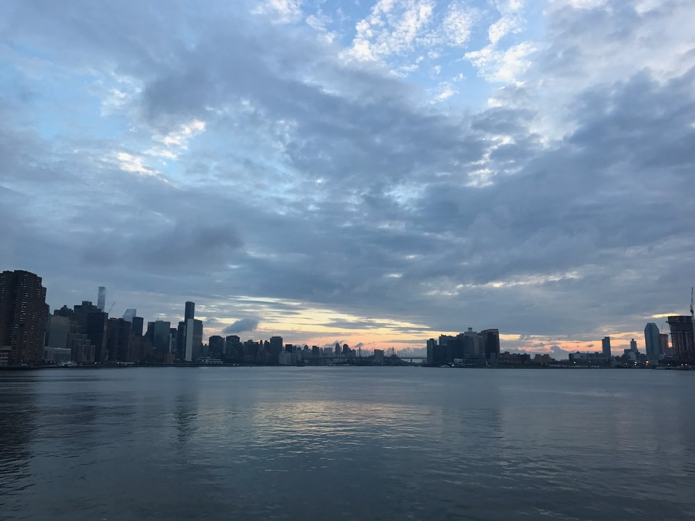 the morning of my first day in Manhattan