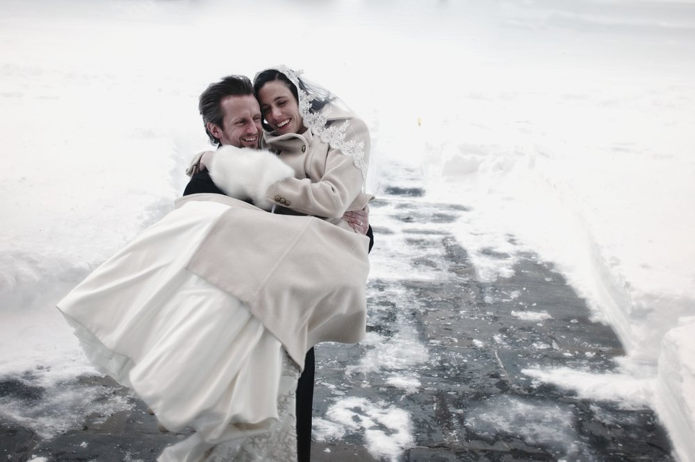 New Haven blizzard wedding