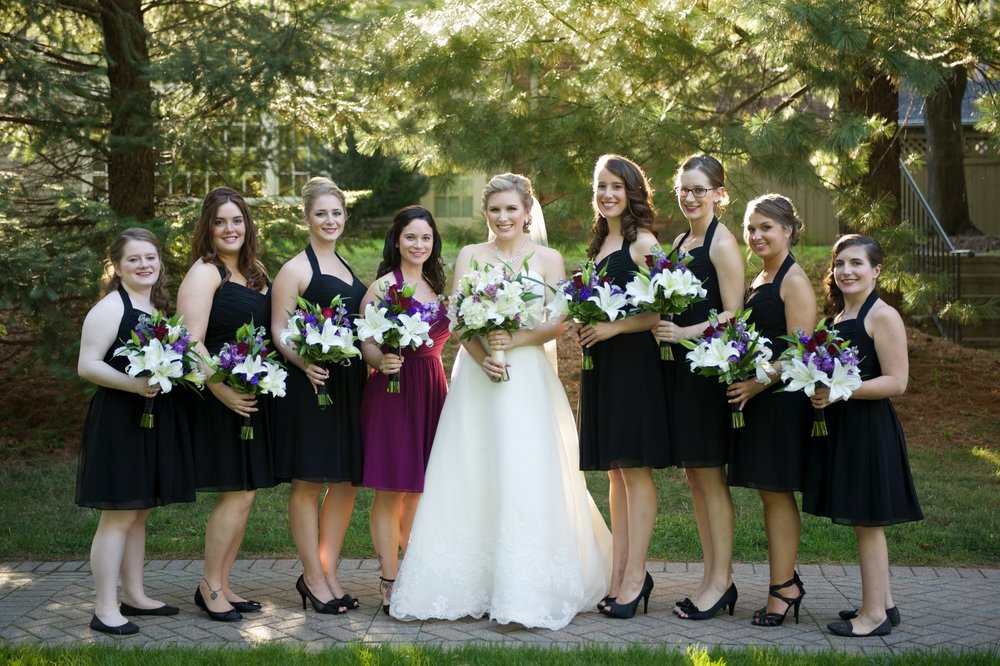 Beautiful bridal party photography