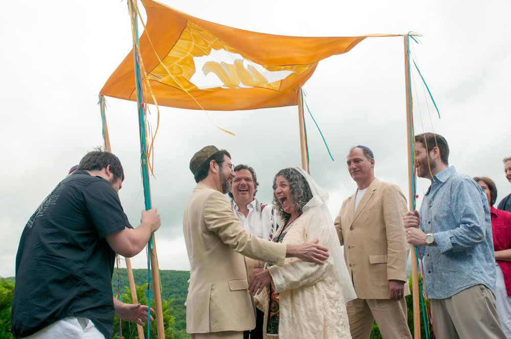 Outdoor Jewish Wedding at Warfield House