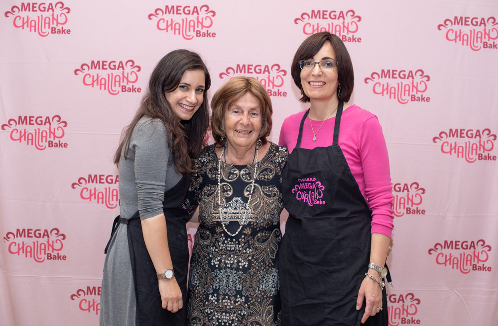 Three generations of beautiful ladies - Malka Kosofsky, Leah Edelman, Esther Kosofsky
