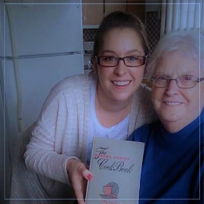 April with her Grandma.