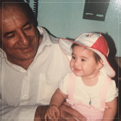 Talia with her Grandfather