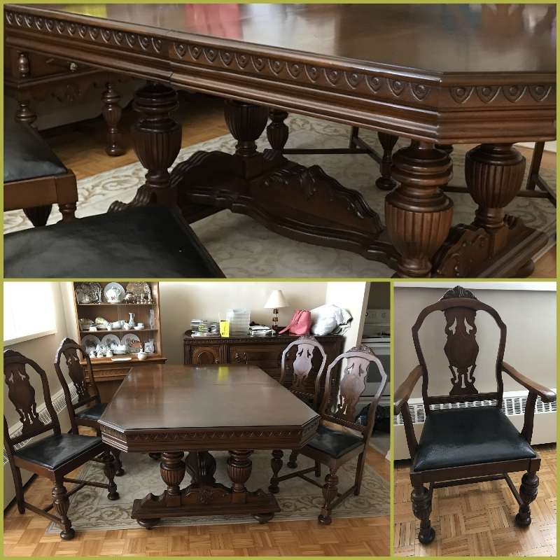 This Dining room set can be yours! Beautiful craftsmanship.