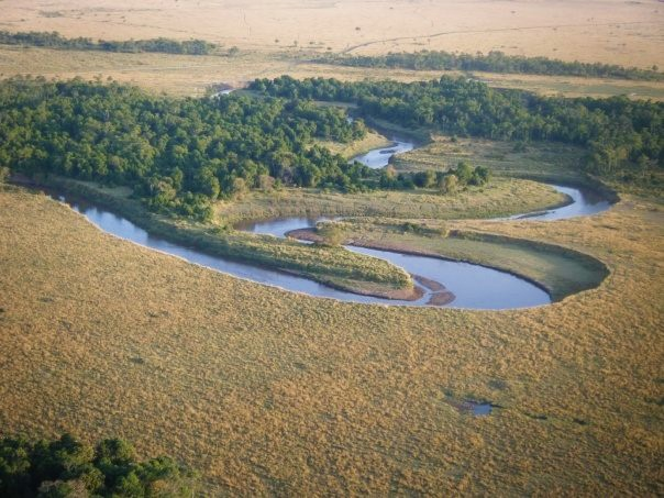 The Masai river winds and meanders through Kenya's Masai Mara