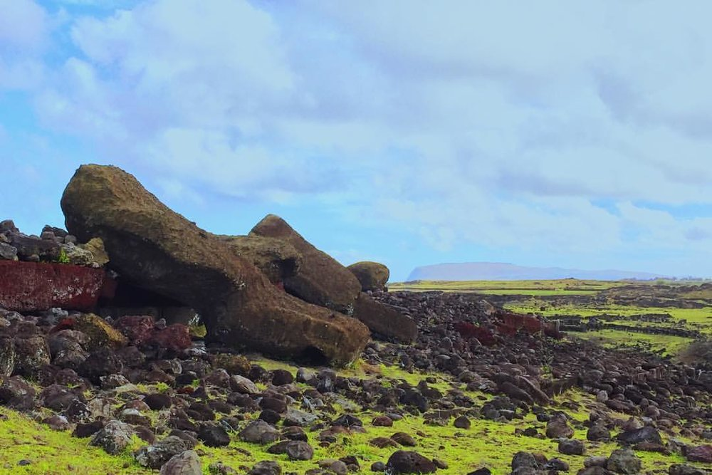 Toppled Moai statues are evidence of a once-great society - but what happened?