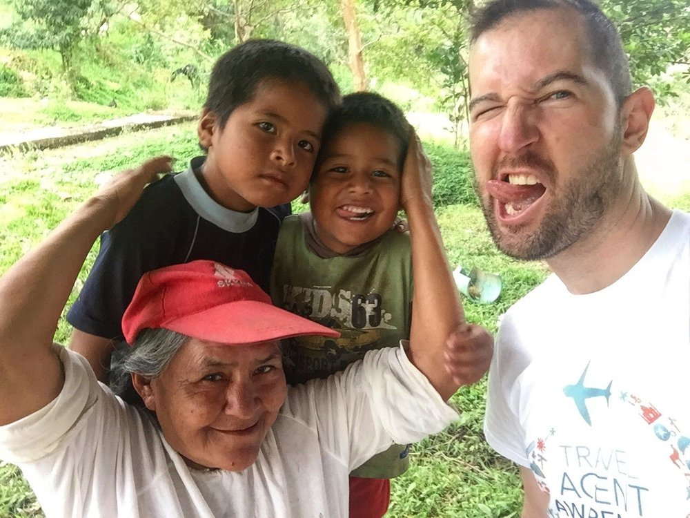 Shuar tribespeople of Ecuadorian Amazon