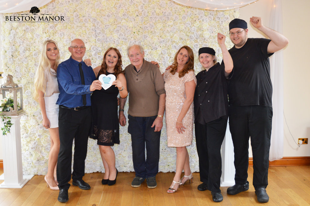 Pictured from left to right: Emma, John, Amy, 'Grandad', Janet, Julie & Tom