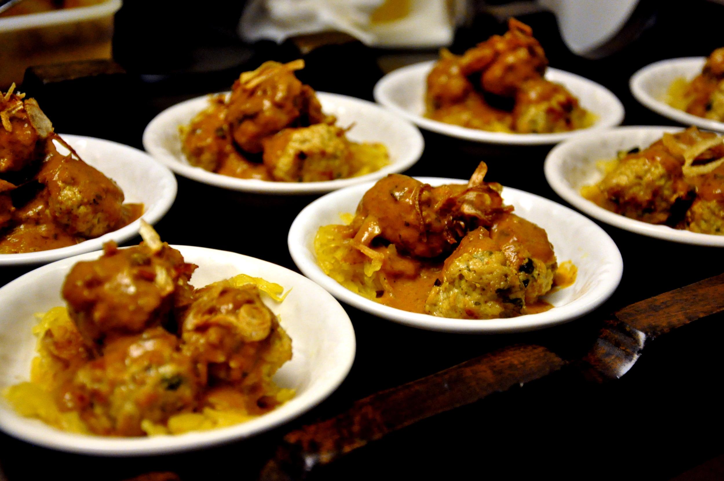 Tandoori Meatball Chaat