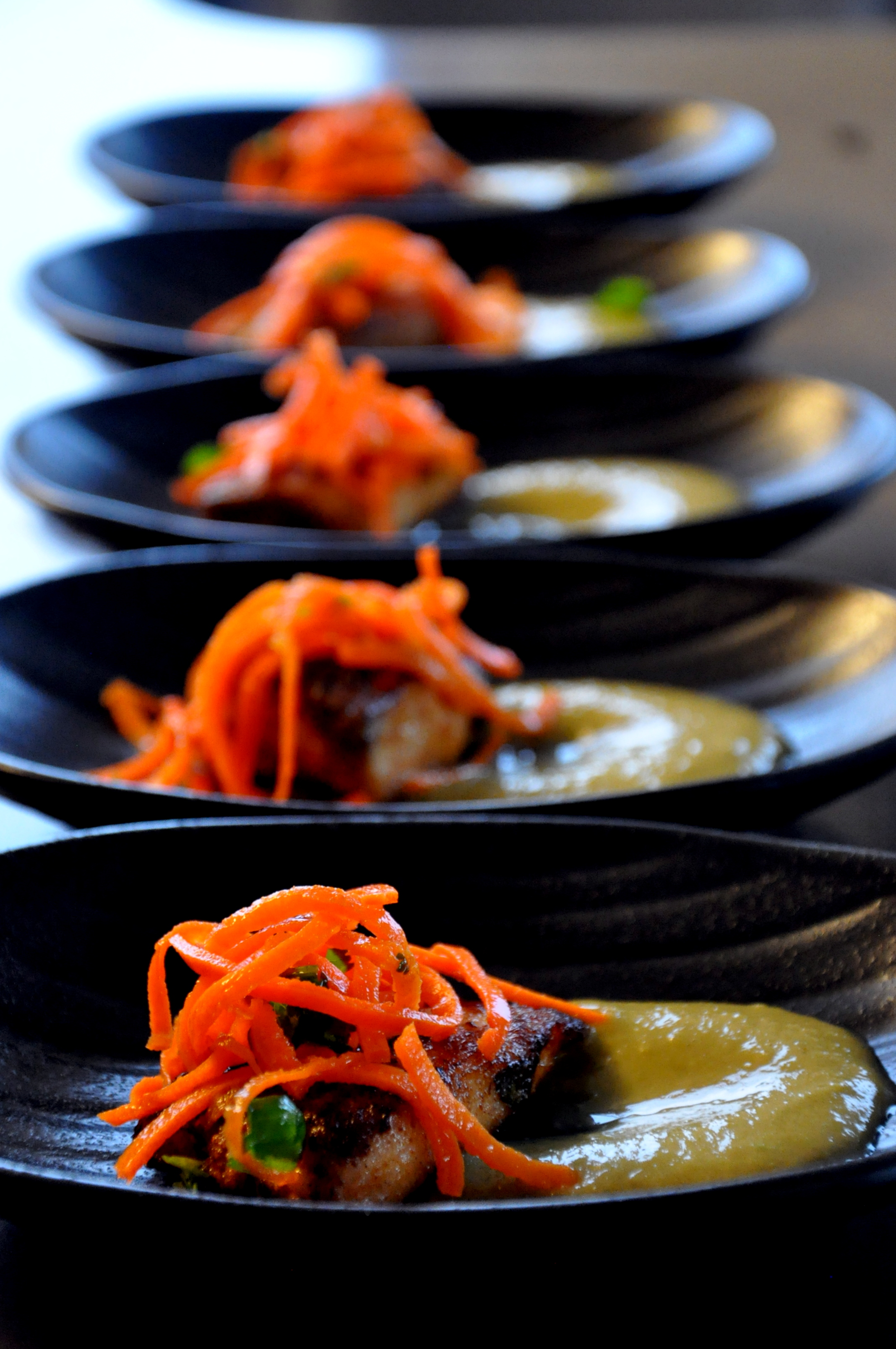 Masala Fish w/ Bean Puree & Carrot Slaw