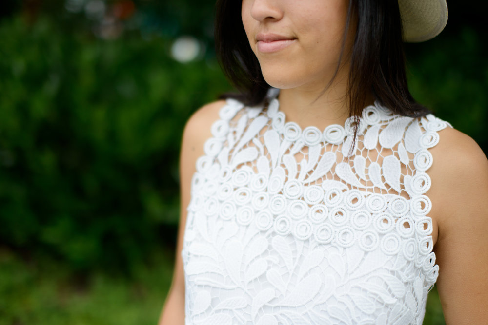 Parker Lace White Crop Top