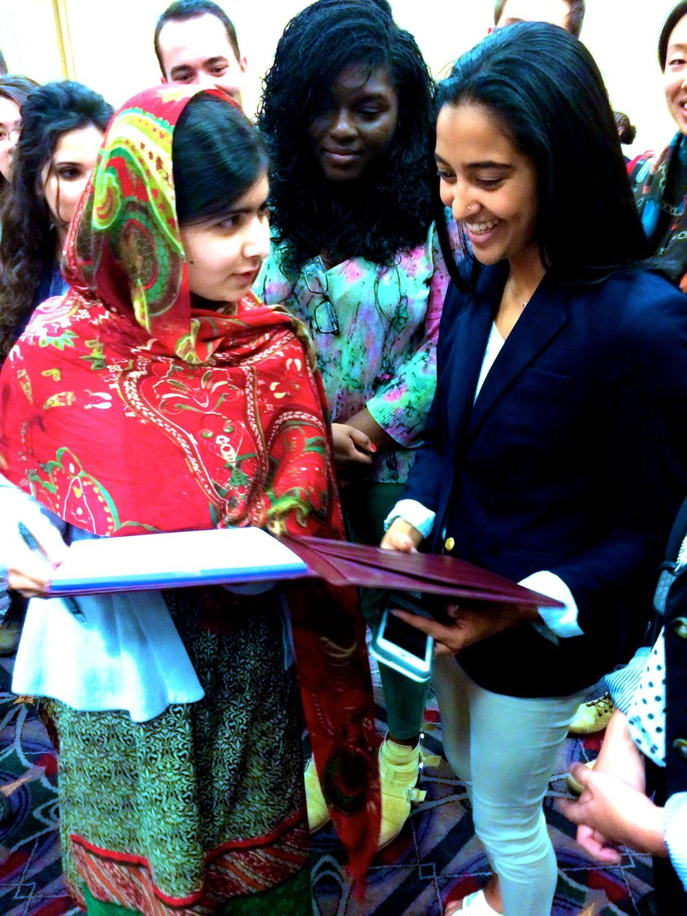 Bela meeting Malala Yousafzai at the PA Forbes 30 Under 30 Summit.