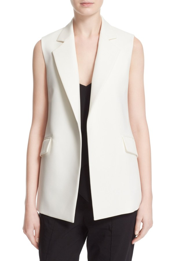 The throw on. - This white vest is perfect for the big kickstart to summer. Unlike weather's heavy parkas and spring's knits, this one is a light collared vest, perfect to wear over a tank and shorts, or a mini strappy romper. This just pulls the rest of your outfit together. It is perfect for memorial day, and the rest of the summer!