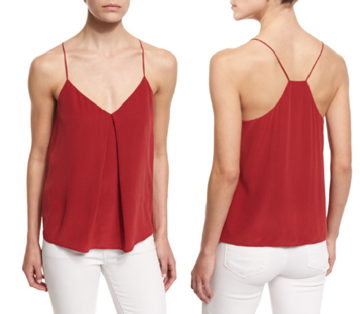 Red Hot - A pop of crimson can go a long, long way! A heady dose of color can also take away any tiredness from the work day. This easy-breezy top is ideal for those fun evenings when you want to sit at a rooftop bar or an outdoor patio. This is great for work, an evening coffee run with a friend, or drinks at the bar.It works well with white pants and a cashmere throw for the day, and you can wear it just by itself as a flirty top at night, or put on a jean jacket if there's a nip in the air.