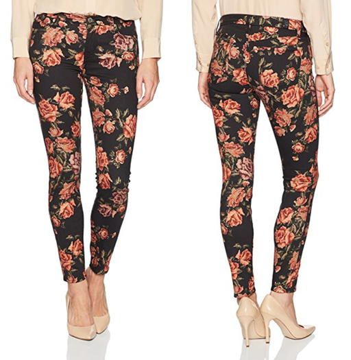 3. The Casual Floral Jeans - A chic and comfortable way to wear summer florals, you ask? The answer lies in these flattering 7 for all mankind denim pants. These are super easy to pair - a nice white shirt or tank is all you need. A neutral top and white sneakers will allow the stunning floral pattern to be the star of the look. Wear it with metallic heels for a dressier look. Wear this for a nice lunch or to frolic about in the park. 7 for all mankind Floral Jeans