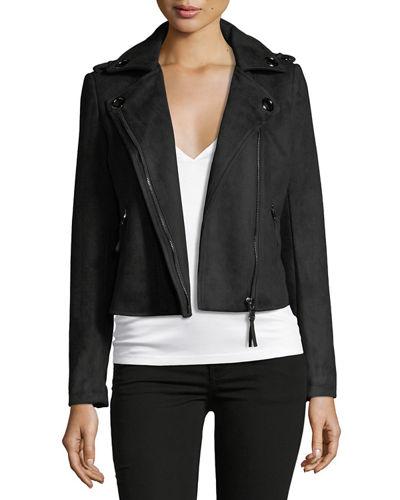 John and Jenn FauxSuede Moto Jacket - valued at $245