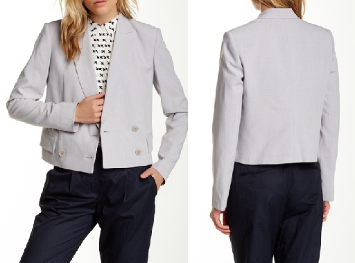 TheoryCropped Poplin Jacket - valued at $535