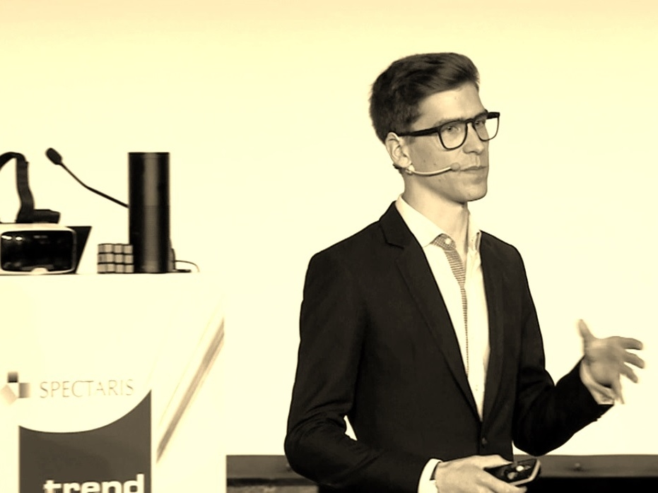 """""""Innovationen in der Augenoptik"""" - Vortrag von Yannick Fetsch auf dem Spectaris Trendforum."""