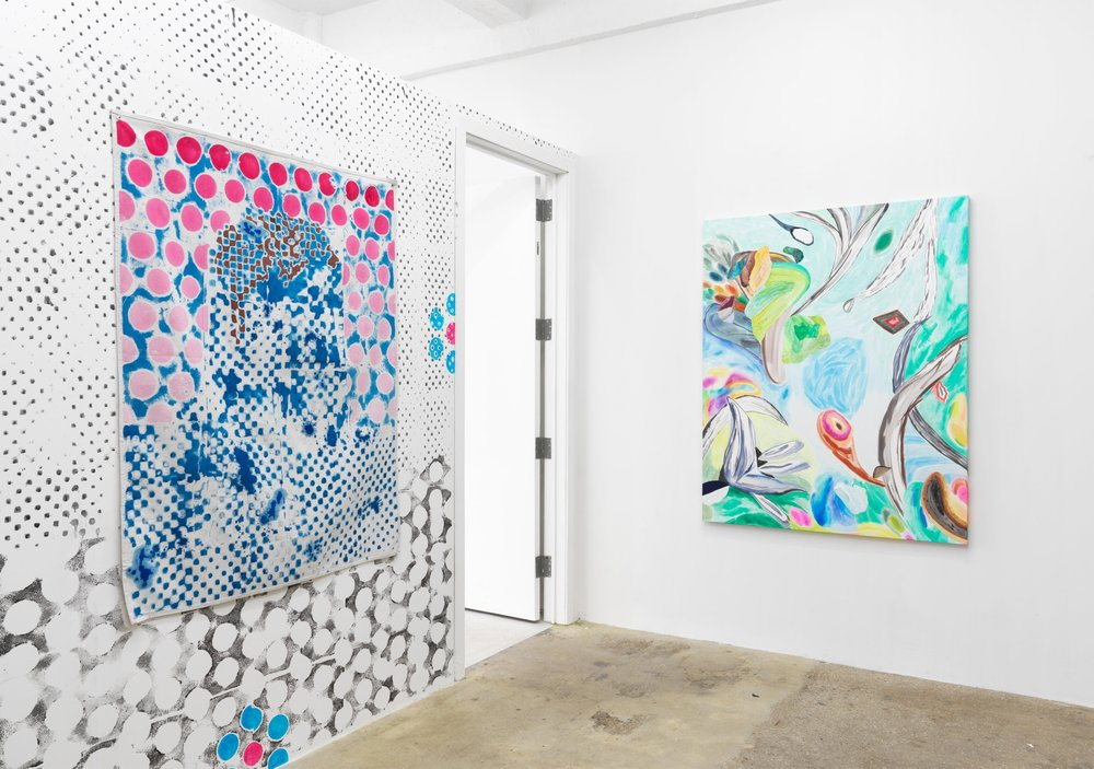 Installation view, Bill Komoski / Lauren Silva