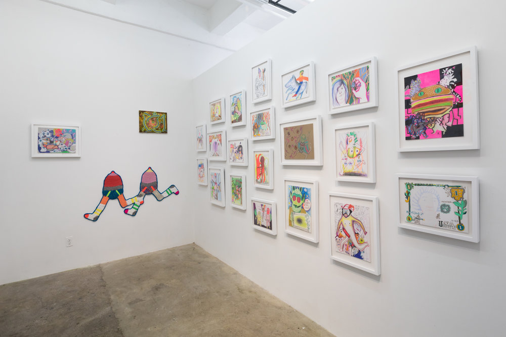 Installation view of  Electric Mayhem.