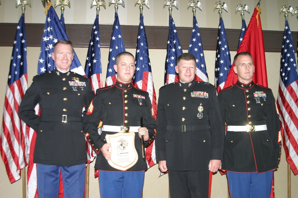 MGen Jim Kessler, 2nd from right, our Guest Speaker and awards presenter at our Birthday Celebration.