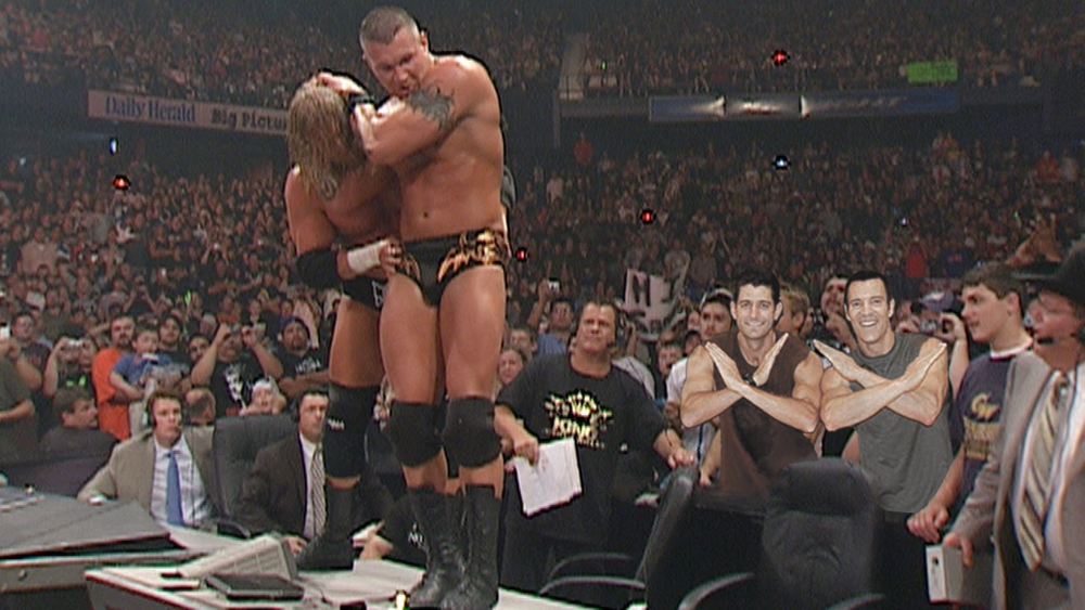 Paul Ryan and cheering on D'Generation X member Triple H at Monday Night Raw, 1999