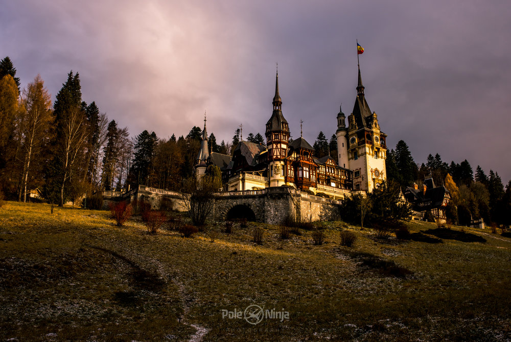 Pelisor Castle in Sinaia, Romania, is privately owned and absolutely iconic to the fairytale castle look.  Just a gorgeous place.  But doing a photoshoot isn't possible here as security is quite attentive, though nice.