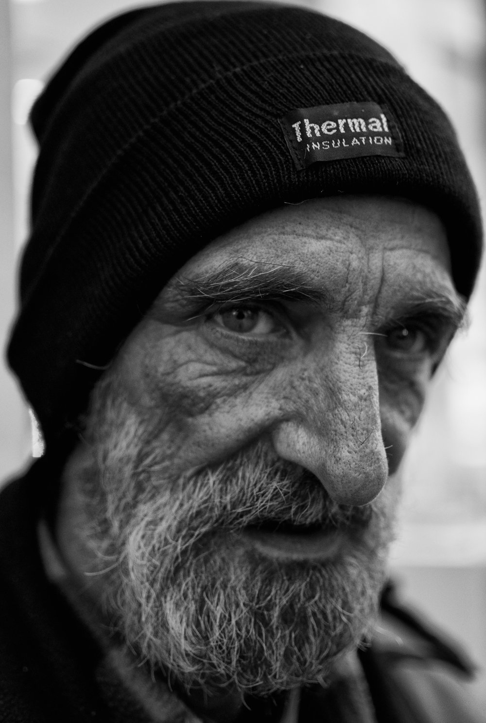 "Jay has been homeless for over 29 years due to a medical condition which he names the ""suicide headache"" leaving him unable to work since he was a child."