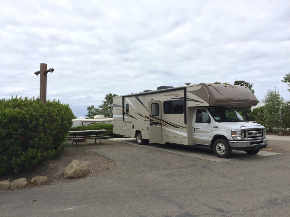Einer unserer drei Stellplätze in Santa Barbara - ausnahmsweise mal kein Pull-Through.